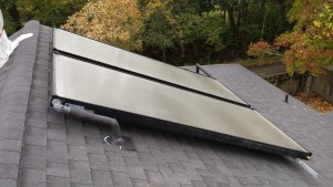 Solar collectors installed by Sun Fire Plumbing